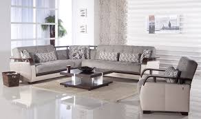 Velvet Living Room Furniture Long Grey Sofa Purple Cushions And Carpet Near Dining Space Afroceo