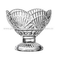 china crystal glass footed ice cream bowl dessert bowl