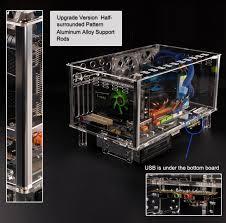 Qdiy Pc-D779Xm Horizontal Mircoatx Htpc Acrylic Transparent Desktop Pc  Water Cooling Computer Case