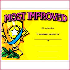 5 Most Improved Certificate Template Printable 36139