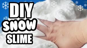 world s best snow slime diy how to make slime non sticky without borax by surprise toys you