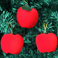 apple ornaments. aliexpress.com : buy 12 pcs /set christmas apple ornament pendant red foam for tree home hanging decoration supplies from ornaments