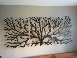 metal wall art decor 3d sculpture 3 piece tree brunch modern vintage abstract in home furniture diy home decor wall hangings ebay on wall art 3d metal decor with metal wall art decor 3d sculpture 3 piece tree brunch modern vintage
