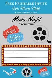 Free Printables Printable Movie Night Invite