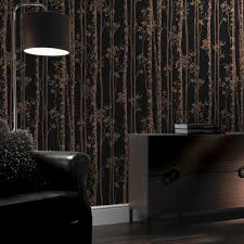 >linden black and copper wallpaper graham brown