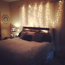 Diy Curtains With Lights Homemade Headboard Curtains Lights Weekend Project Diy