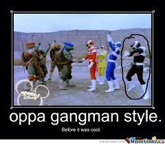 Power Rangers Gangman Style by pigga8 - Meme Center via Relatably.com