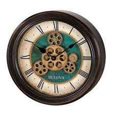 wall clock with black metal case