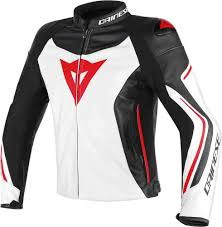 dainese assen motorcycle leather jacket clothing jackets white black red
