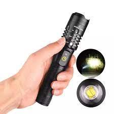 Bessky Sports Shop Đèn Pin Mạnh XHP50 Đèn LED Hợp Kim Nhôm Sạc USB Cắm Trại