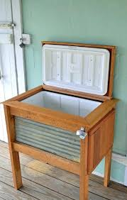 wood cooler cart outdoor patio ice cooler chest plans brilliant bar cart on wheels rolling wheeled