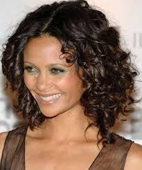 short brown curly do