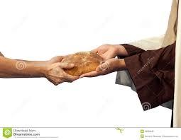 Jesus Dá O Pão A Um Mendigo. Foto de Stock - Imagem de jesus, mendigo: 36528532