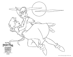 Disney Peter Pan Coloring Pages Coloring Home