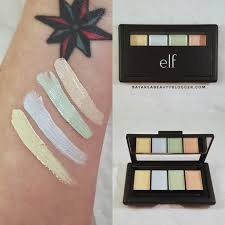 Color Correcting Chart Elf E L F Corrective Concealer Palette Review And Swatches