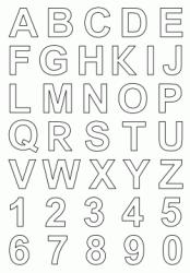 Disegni Di Lettere E Numeri Da Colorare