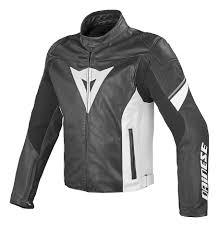 dainese airfast motorcycle leather jacket clothing jackets black black white merchandising dainese