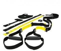 pro hanson trx resistance band suspension home gym black yellow original
