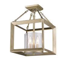 white foyer pendant lighting candle. Golden Lighting\u0027s Smyth Semi-Flush (Convertible) (White Gold \u0026 Clear Glass) #2073-SF WG-CLR White Foyer Pendant Lighting Candle