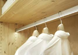 led closet lighting lighted rod with hardwired lights