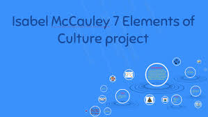 7 Elements Of Culture Isabel Mccauley 7 Elements Of Culture Project By Isabel