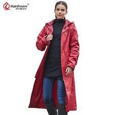 rainfreem impermeable raincoat women men waterproof trench coat poncho double layer rain coat women