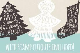 Christmas Clipart Vectors Set 7 Family Christmas Cards Christmas Carols Lyrics Holiday Greeting Cards