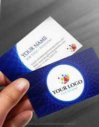 Online Busines Card Online Free Business Card Maker App Abstract Blue Business