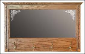 Coat Hook Rack With Mirror Countryside Mfg Wider Entry Mirror With Double Brass Coat Hooks 100