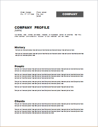 Company Profile Template Word Format