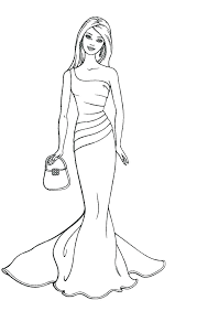Barbie Coloring Pages For Free Free Barbie Coloring Pages To Print