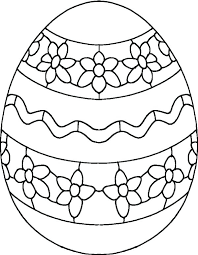 coloring pages of eggs draw flower on egg easter to decorate