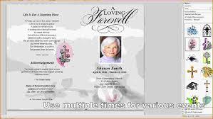 015 Free Program Template Microsoft Word Funeral Service