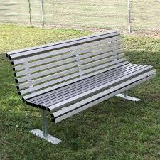 curved park bench aluminium park seat
