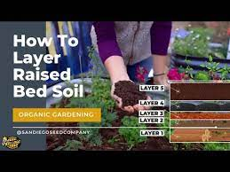 layering soil for a raised garden bed