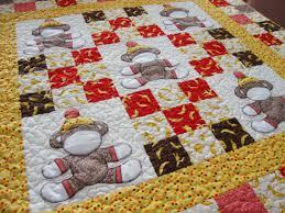 Free Monkey Applique Quilt Patterns | ... show and tell: Sock ... & Sock Monkey crib quilt pattern is here! Adamdwight.com