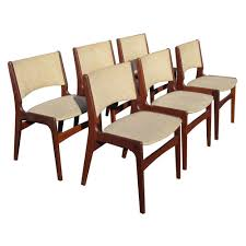vine set of six midcentury rosewood dining chairs by erik buch