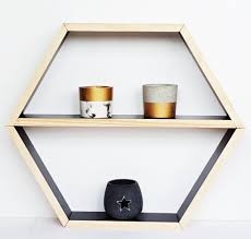 wood hexagon shadow box