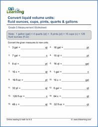 Grade 5 Measurement Worksheets - free & printable | K5 LearningGrade 5 Measurement Worksheet