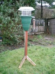 this was my squirrel proof ground feeder in the sky last garden and it worked the squirrel could not get past the green plant pot