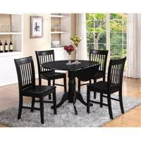 Round kitchen table with leaf Solid Wood Product Image East West Furniture Dlno3blkw 3pc Kitchen Round Table With Drop Leaves Ikea Round Dining Sets Walmartcom