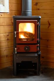installing a wood burning stove into a shepherds hut