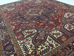 details about 8 6 x 11 1 rust black tribal persian heriz oriental area wool rug handmade