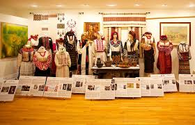 among the exhibits at the national ukrainian museum in chicago is an elegant display of traditional ukrainian women s garb through the years