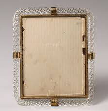 early venetian art glass frame 30 5 x 25 5cm