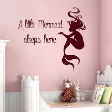 disney wall quotes decals mermaid wall decals quote a little mermaid sleeps  here vinyl decal mermaid . disney wall quotes decals ...