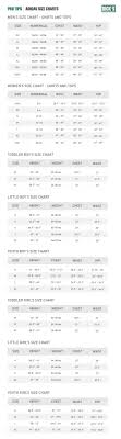 adidas sizing chart adidas apparel size chart pro tips by dicks sporting goods