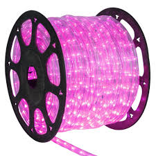 1 2 Inch Led Rope Light 1 2 Inch 150 Ft Led Pink Rope Light Led Rope Lights