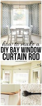 Diy Curtain Rods Diy Bay Window Curtain Rod For Less Than 10