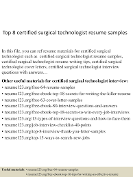 Surgical Technologist Resume Resume Templates